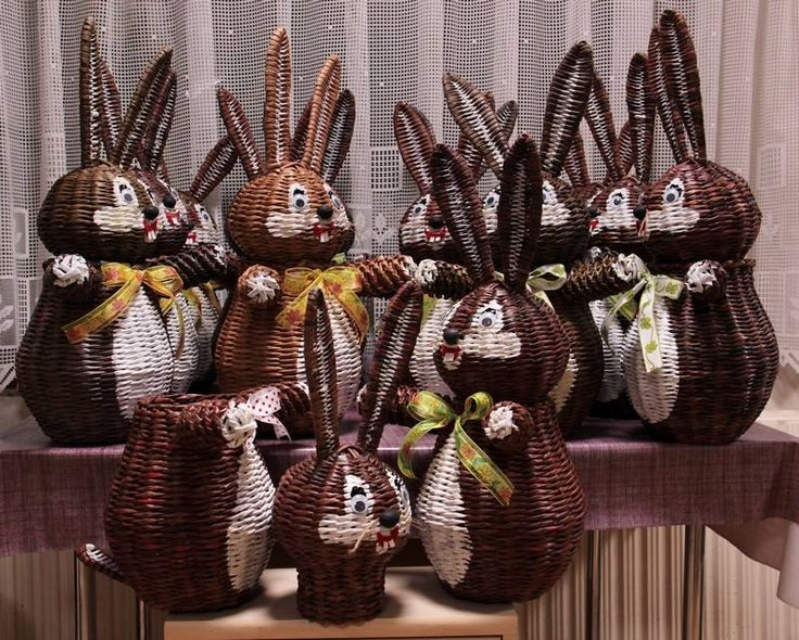 paper weaved rabbits