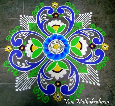 Colourful kolam