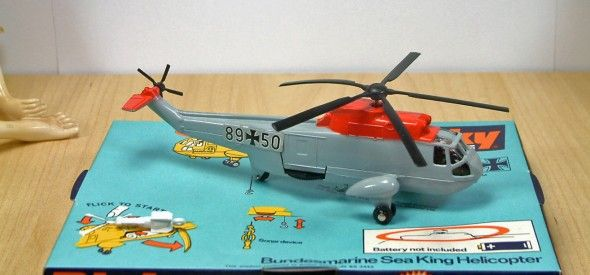 Dinky Toy Bundesmarine Sea King Helicopter. This diecast model was produced between 1973 and 1978.