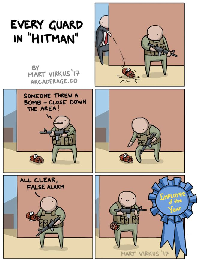 Guard Logic In Hitman Funny Games Video Games Funny Funny Gaming Memes