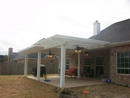 Pergola/Patio Cover Combo With Lights and Ceiling Fans #338