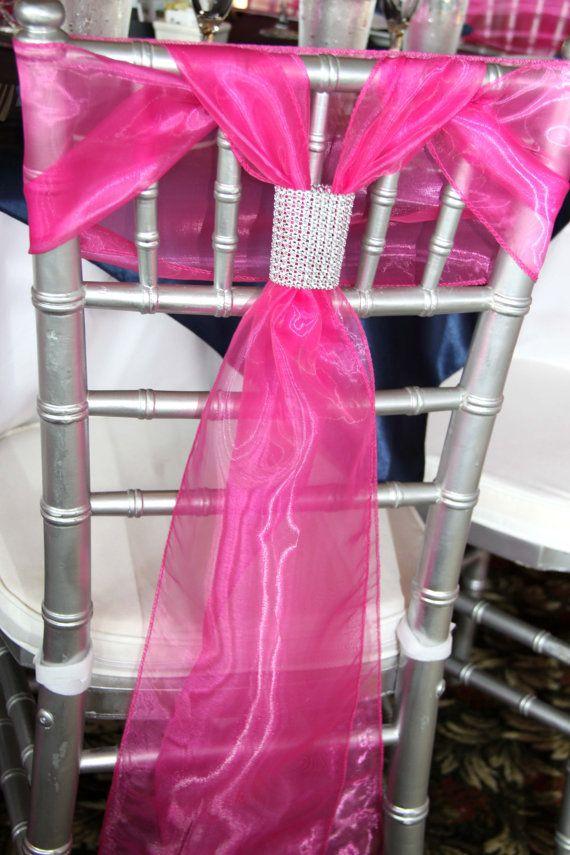100 Rhinestone Mesh Chair Tie enhancers/ by StylishStatements, $30.00