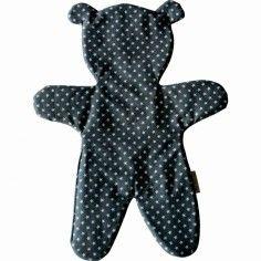 Doudou plat ours Ardoise - Le petit rien