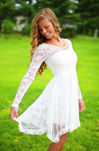 Simply adorable white lace dress