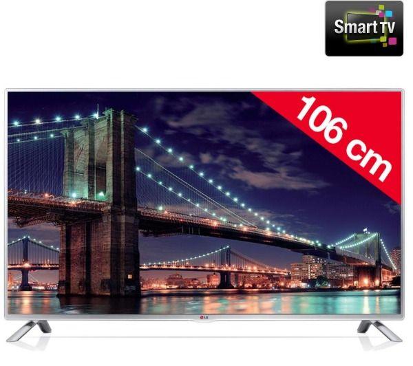 TV LED pas cher Pixmania, achat LG 42LB5700 Téléviseur LED Smart TV prix Pixmania 369.99 € TTC au lieu de 499 €