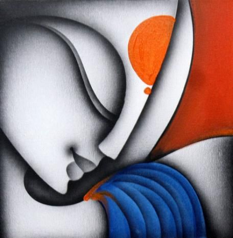 "Recently sold on IndianArtCollectors.com!  ""Love"" by Prakash K Mixed Media On Canvas, Size(inches): 12X12  See more artworks by Prakash K at: http://www.indianartcollectors.com/artist/PrakashK"