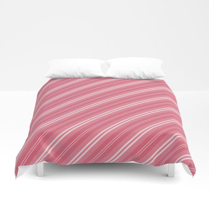 Soft Nantucket Red White White Diagonal Fade Stripes Duvet Cover Bed Bedding Homedecor Duvet Anoth Striped Duvet Covers Duvet Covers Soft Duvet Covers
