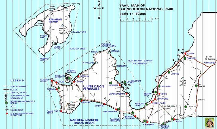 Map: Ujung Kulon - Infiniti Adventures - Indonesia