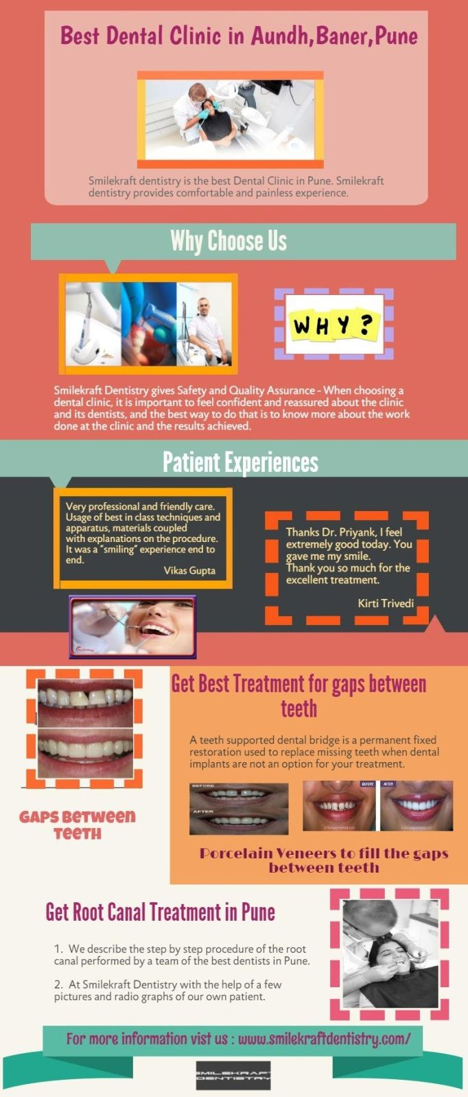 Smilekraft Dentistry offers the best of dental treatments in Pune, India, like Smile Makeovers, dental implants, root canal treatments at a reasonable cost and is renowned for it's Expert Cosmetic Dental treatments. Book your appointment today! http://www.smilekraftdentistry.com/