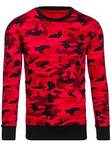 BOLF Herren Sweatshirt ohne Kapuze Army Camo Motiv J.Style DD129-2 Rot XXL   1A1    - Kategorie  Herren Die Größen können kleiner a…   Mode für Männer  in ... 009c2f0127