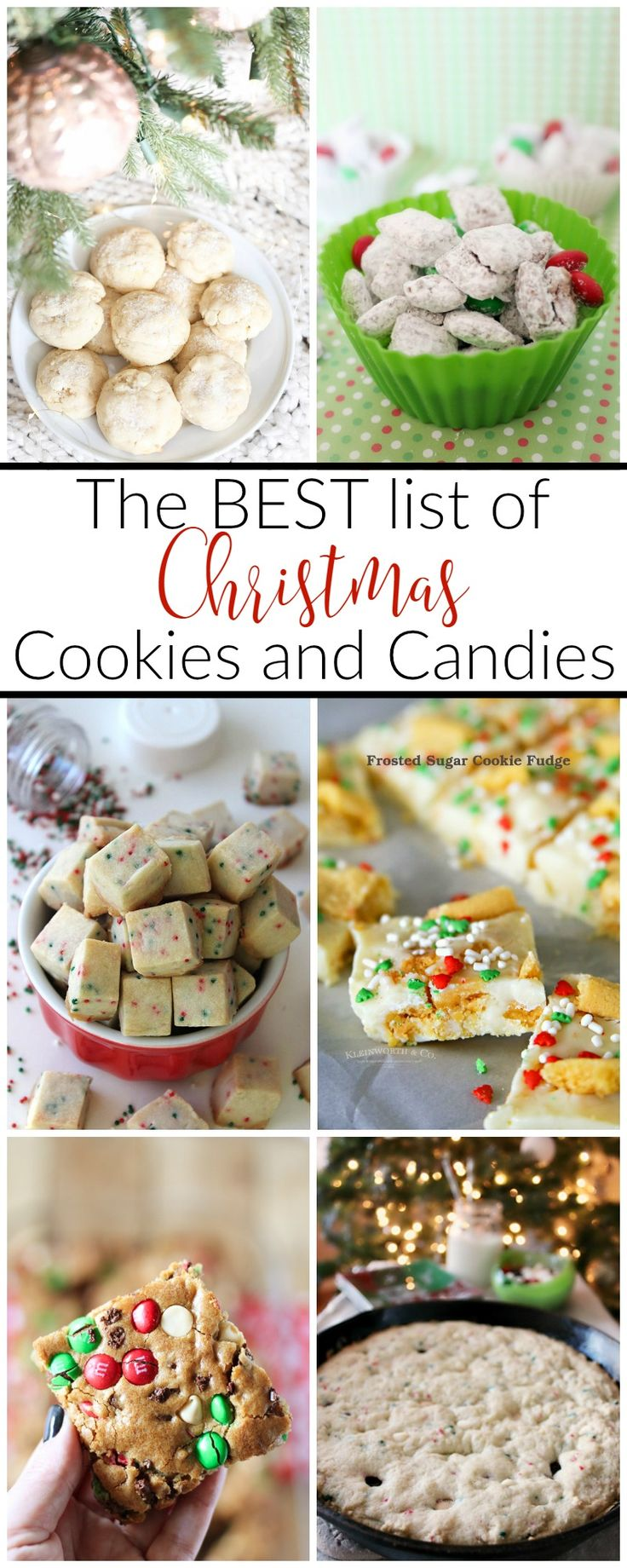 The Best List of Christmas Cookies and Candies