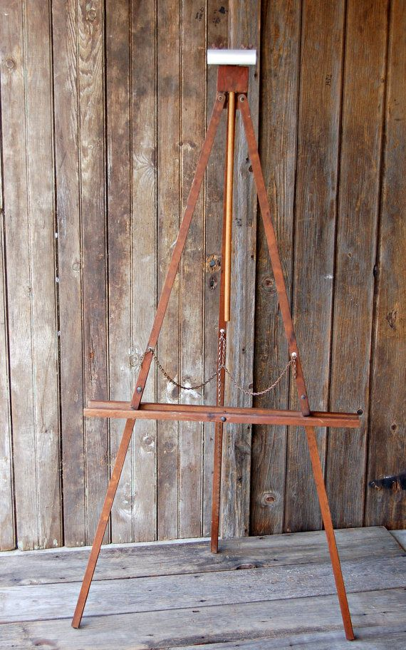 Large Vintage Collapsible Wooden Easel Etsy Vintage And