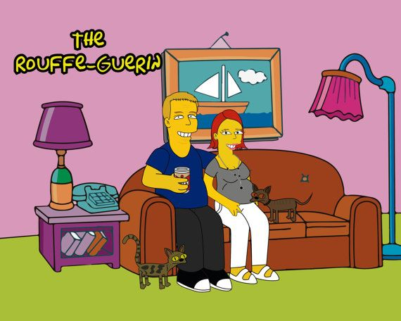 Ill draw 3 characters on the couch as a yellow character and your Family name. Have you ever thought about what do you look like as a Yellow character? I can get it going for you! - Use it as magnificent facebook, twitter symbol - Print it and place it in an edge - Make a fun present