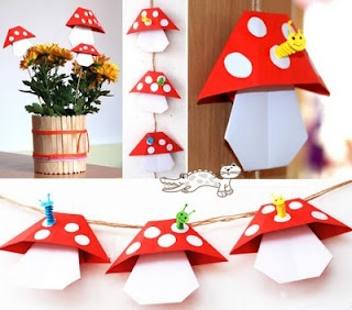 paper folding to make toad stools