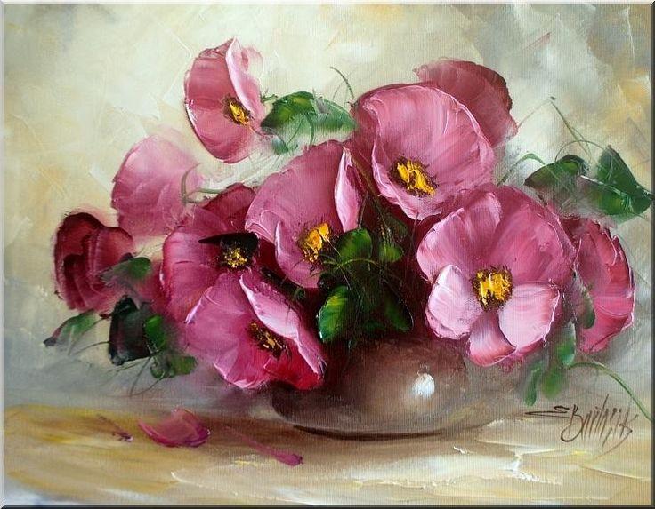 Ewa Bartosik__DZIKIE RÓŻE_obraz olejny_40x50 (5764594929) - Allegro.pl - Więcej niż aukcje.