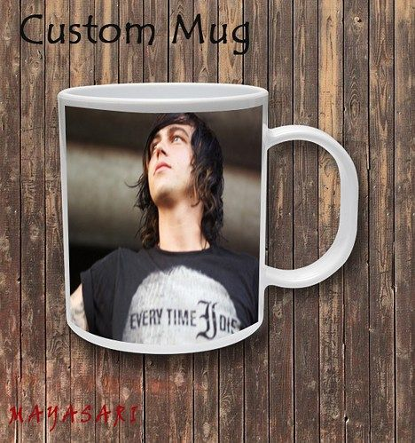 Kellin Quinn - Sleeping with Sirens Custom Mug Coffee or Tea  Your favorite photo or funniest saying is a great way to start the day. Use our white custom mug to showcase your creativity. It has a lar