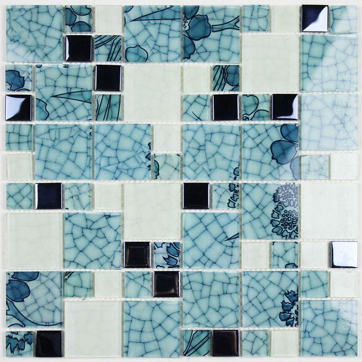 Cheap Vidrio cristalino protector contra salpicaduras azul y blanco mosaico azulejos Crackle purple Crystal Glass mosaicos pegatina baño BLH016 2, Compro Calidad Mosaicos directamente de los surtidores de China:     Debido a la política de envío especial, todos nuestros productos  no pueden  ser enviados a  Brasil y Rusia     .