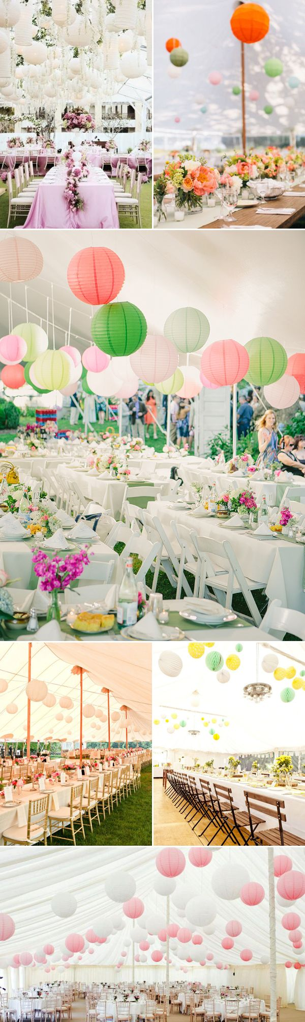 40 Beautiful Ways to Decorate Your Wedding Tent - Lanterns