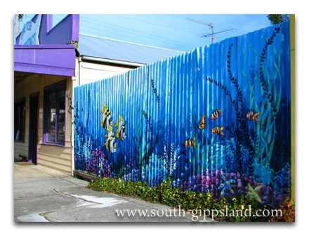 Unusual And Attractive Wall Painting In Fish Creek