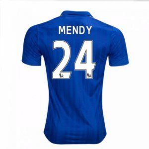 16-17 Leicester City Cheap Home Mendy #24 Replica Football Shirt [I00306]