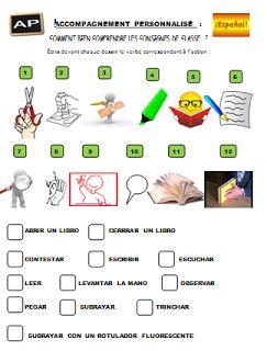 Sandrine a monté cette petite activité qui permet de mettre en place le lexique des consignes en cours d'Espagnol.       Merci Sandrine !!  ...