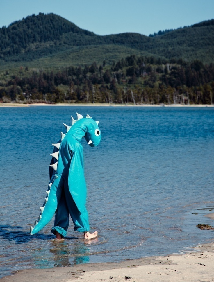 Adult Loch Ness Sea Monster Halloween Nessie Costume ...