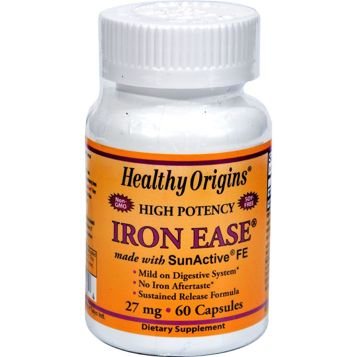 Healthy Origins Iron Ease as SunActive - 27 mg - 60 Capsules - Healthy Origins Iron Ease as SunActive Description: Mild on Digestive System Superior Absorption Sustained Release No Iron Aftertaste Iron Ease was developed for individuals that require a high potency iron supplement that is both gentle on the stomach and highly bioavailable. Iron Ease has a unique sustained release delivery system that has very high iron absorption after 12 hours following oral administration and without the…