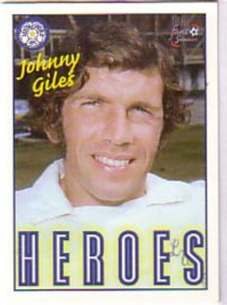 Johnny Giles Leeds United Trading Card good condition in clear plastic sleeve