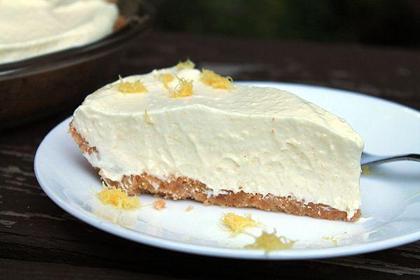 Lemon Pineapple Cream Pie- a slice of perfection.
