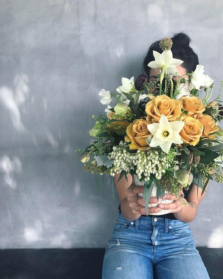 Wildflora - Ventura Blvd. Studio City. Los Angeles. Wedding and event  floral arrangements, flower bouquet design. Roses, Daffodil, Eucalyptus, Scabiosa Pod, foliage