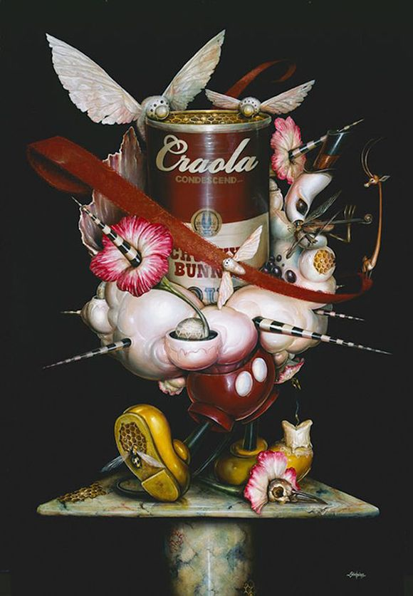 """Label Me,"" acrylic on canvas. 