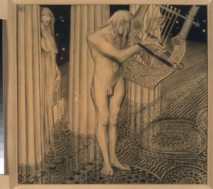 Apollo na Olimpie, ilustracja do 'Illiady' Homera, Stanisław Wyspiański