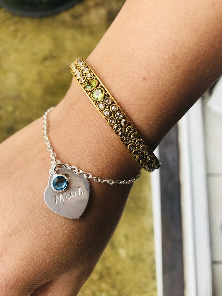 Mothers Day Personalised Handstamped Bracelet!!