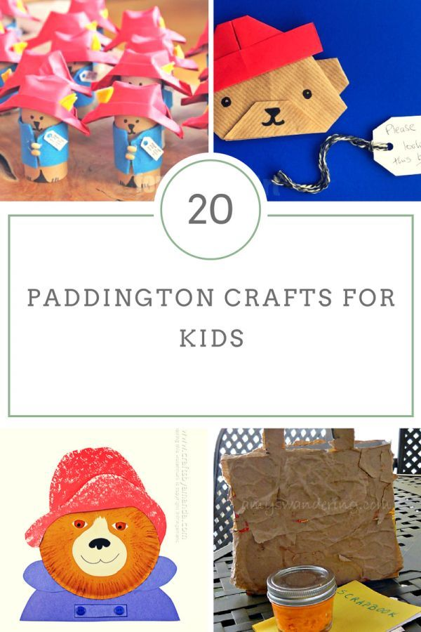 20 Paddington Bear Movie Crafts For Kids Home School Group