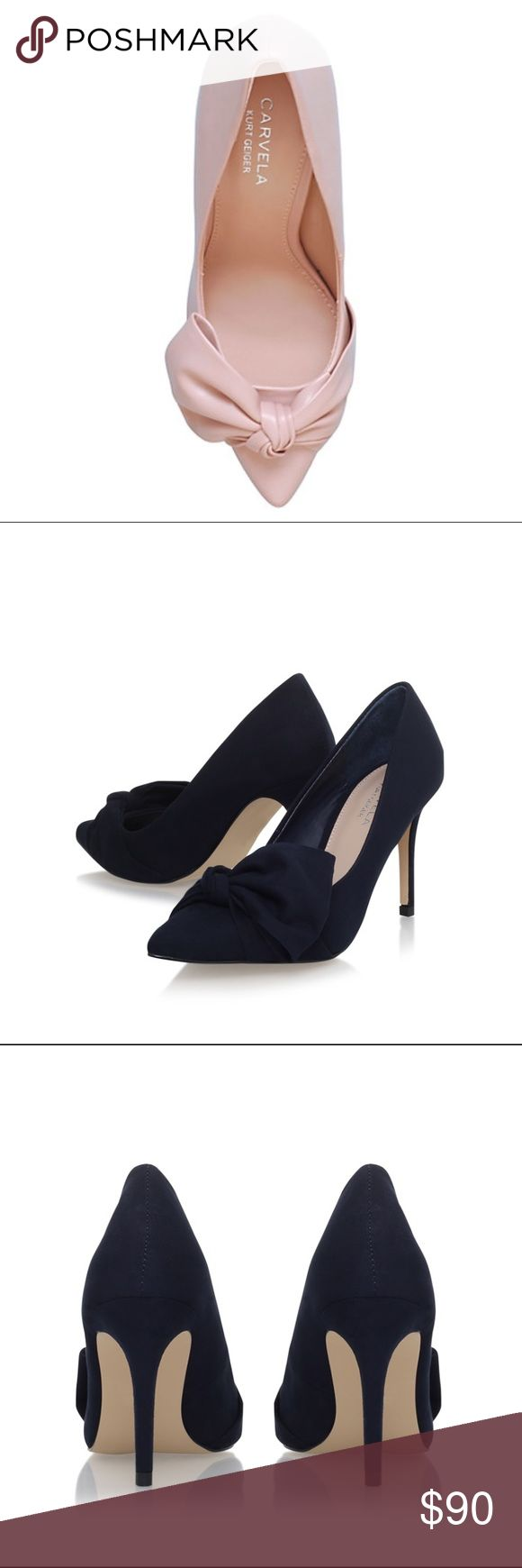 "Navy Carvela Kurt Geiger Pump Still in their box. Bought on the Kurt Geiger website but they are too small for me. The material is suede and the heel height is 8.5cm ( 3.35"") Carvela Kurt Geiger  Shoes Heels"