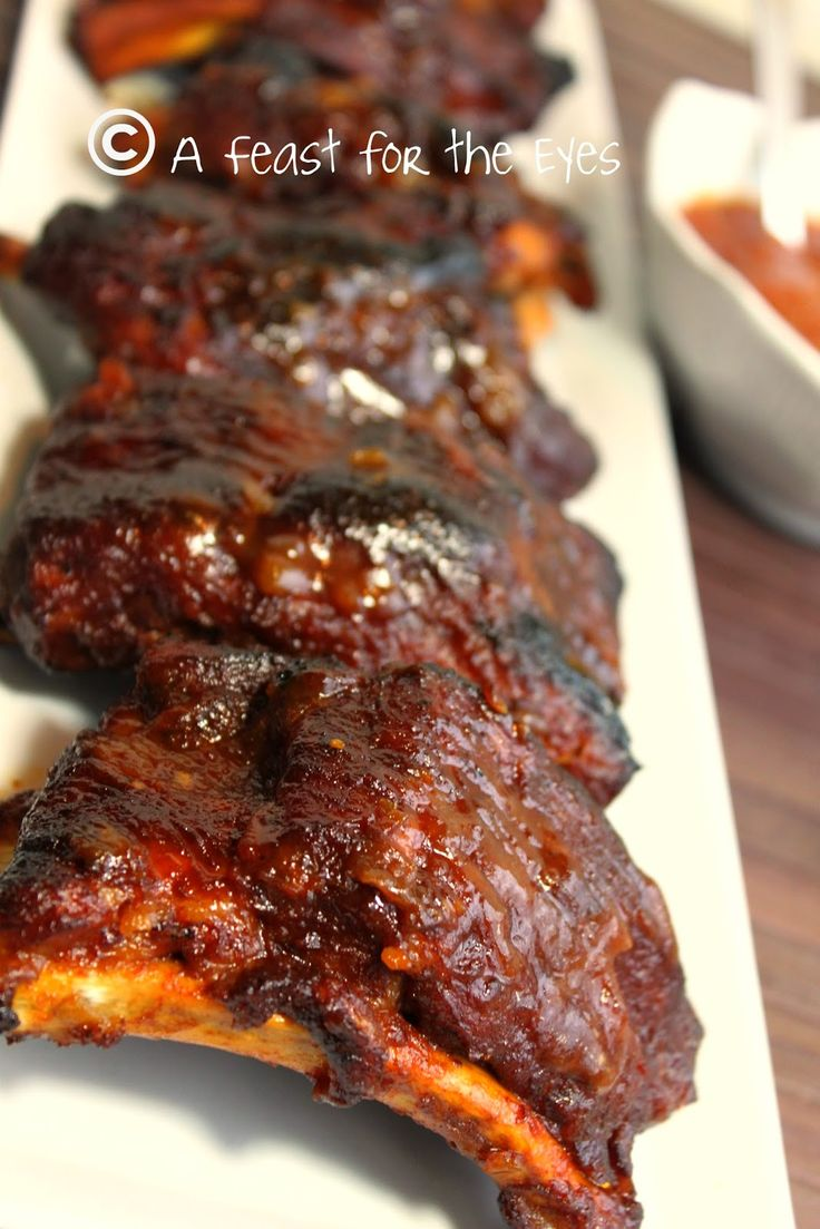 Barbecued Baby Back Ribs 15 Minutes Pressure Cooker Style Style Eyes And Americas Test