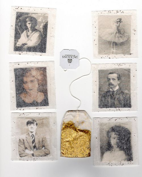 Photos trapped in tea bags by Deer Things  via doppelganger