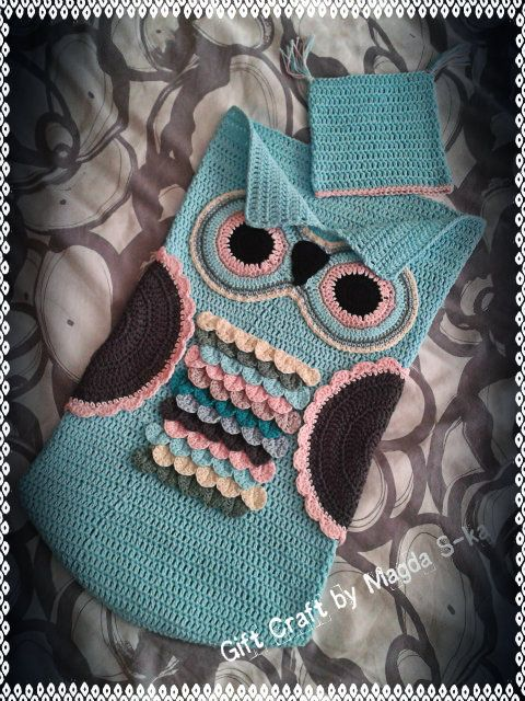 Owl Cocoon Baby crochet by magda S-ka patern: ravelry245