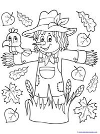 Scarecrow Coloring {and more}