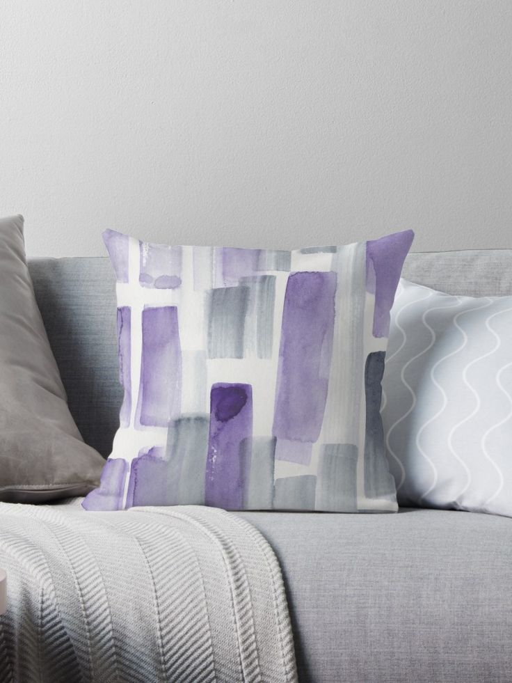 Dark Purple Watercolour Patterns 190130 Abstract Art Watercolour Throw Pillow By Valourineart Watercolor Pattern Purple Watercolor Watercolor Throw Pillow