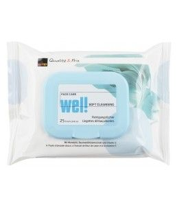 Wel! Face Care Makeup Removing Wipes 25 Pieces