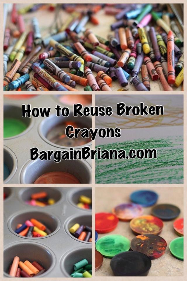How to Reuse Broken Crayons