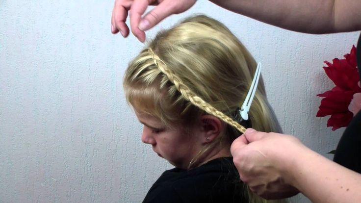 De halve haarband pannenkoek vlecht