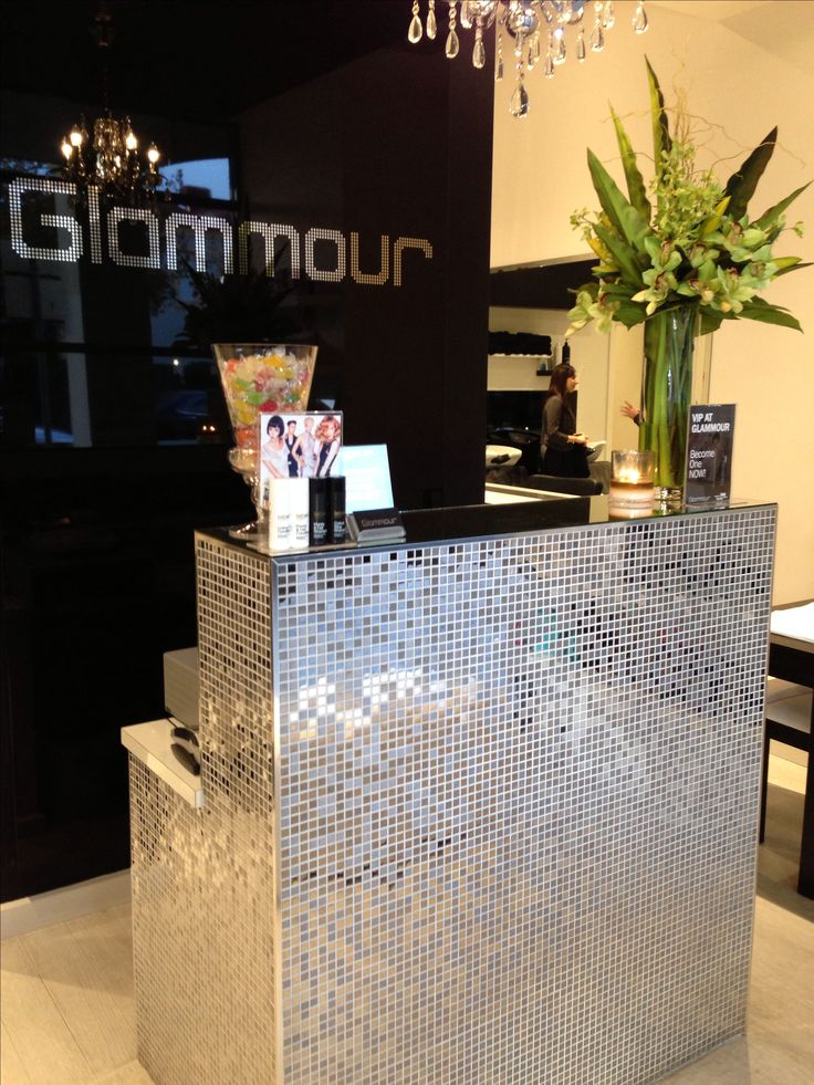 Our very glam reception front desk