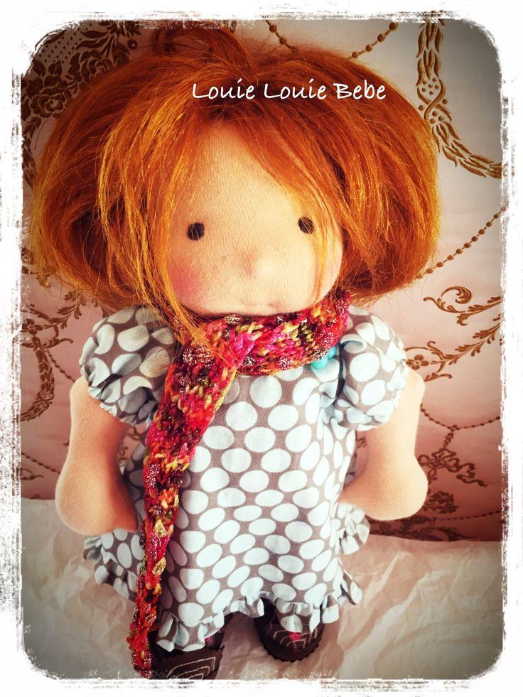 Waldorf doll Miss Rusty's blue dress