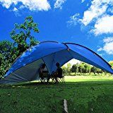 Oxking Outdoor 5-8 Person Beach Canopy Tent Large Triangular POP UP Sun Camping Fishing Shelter Garden Party Pergola with Cloth Around Yard Patio Gazebo Family Shade http://campingtentslovers.com/best-backpacking-camping-tents/