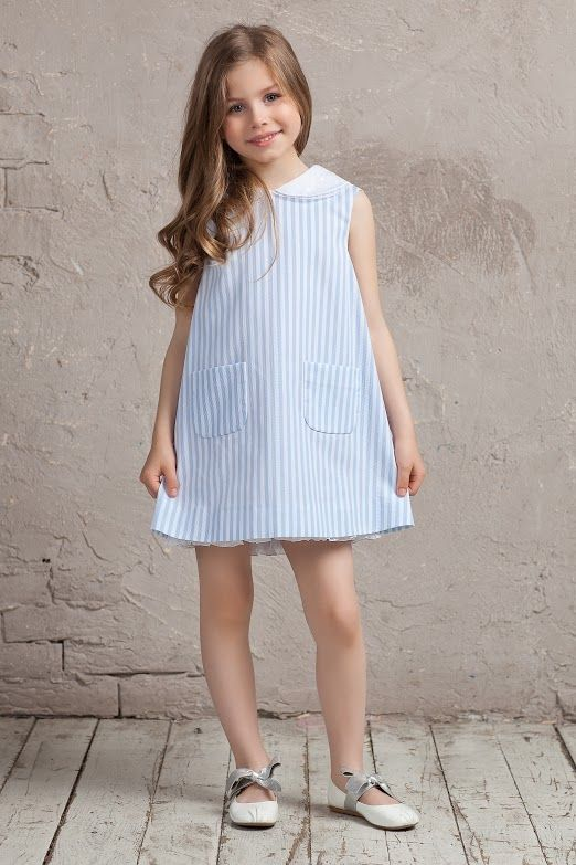 #cotton #pink #white #bibiona #collar #bibiona #dress #collection #sky #blue #skyblue #striped #cruise