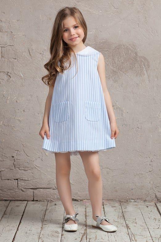 #cotton #pink #white #bibiona #collar #bibiona #dress #collection #sky #blue #skyblue #striped #cruise