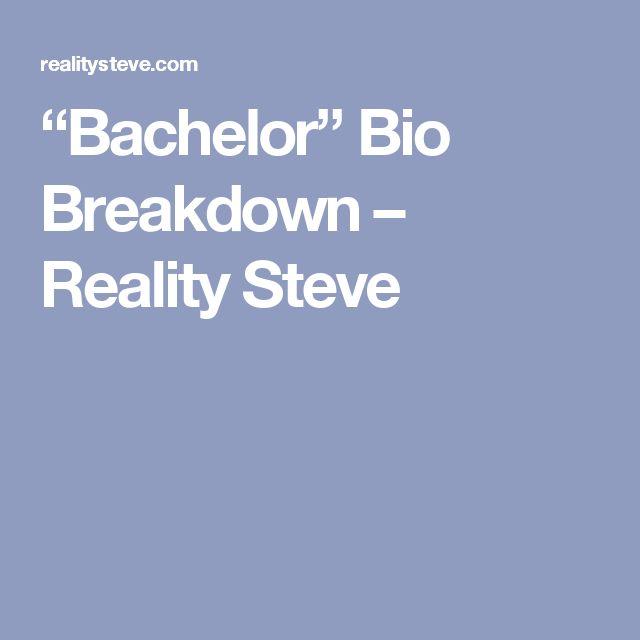 """Bachelor"" Bio Breakdown – Reality Steve"