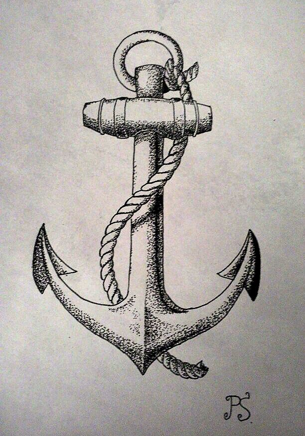 #tattoo #sketch #dotwork #anchor #black